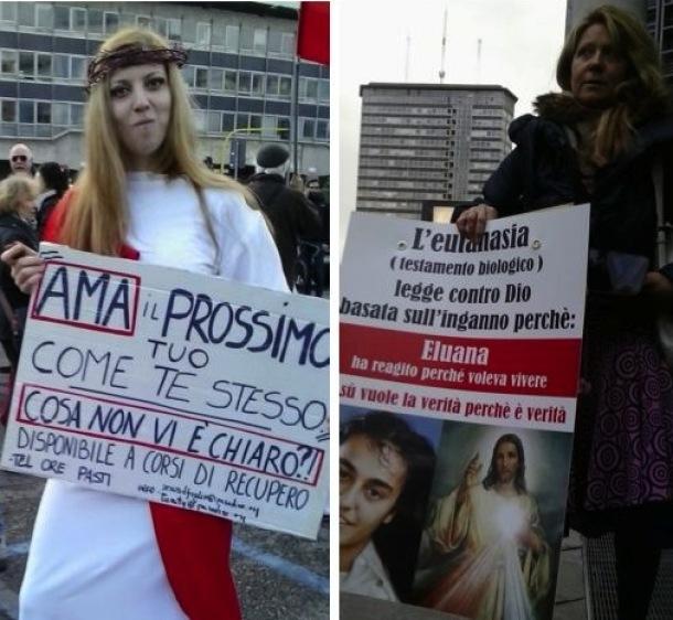 Convegno in difesa della Famiglia a Milano: scontro tra due mondi