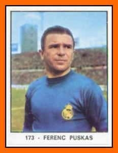 04-Panini - Ferenc PUSKAS Panini Real Madrid 1966