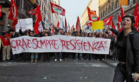 Gli antifa offendono la Resistenza
